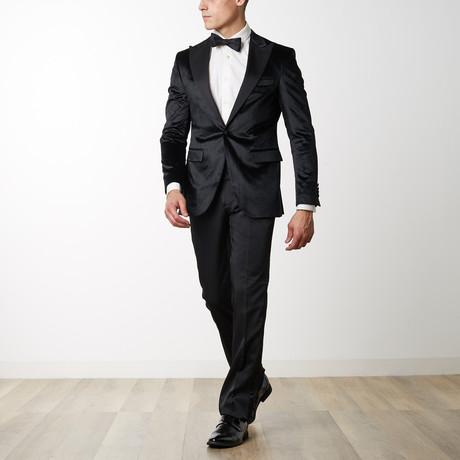 Cotton Shiny Velvet Tuxedo // Black (US: 36R)