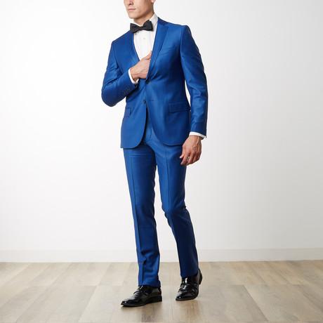Textured Luxury Suit // Navy 3 (US: 36R)