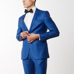 Textured Luxury Suit // Navy 3 (US: 46R)