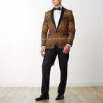 Shine Shawl Lapel Tuxedo // Brown (US: 46R)