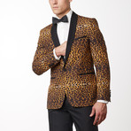 Shine Shawl Lapel Tuxedo // Brown (US: 36R)