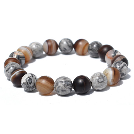 "Strength Within Bracelet // Brown (7"")"