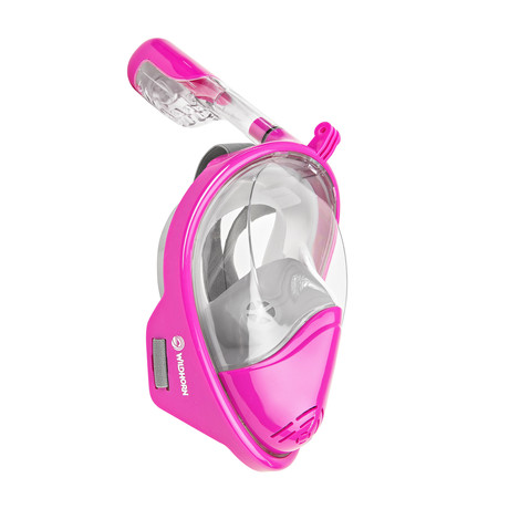 Seaview 180° Full Face Snorkel Mask // Pink // F // L/XL