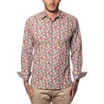 Giles Abstract Print Long-Sleeve Button-Up // Multi Color (XS)