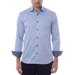 Maddox Solid Long-Sleeve Button-Up // Blue (L)