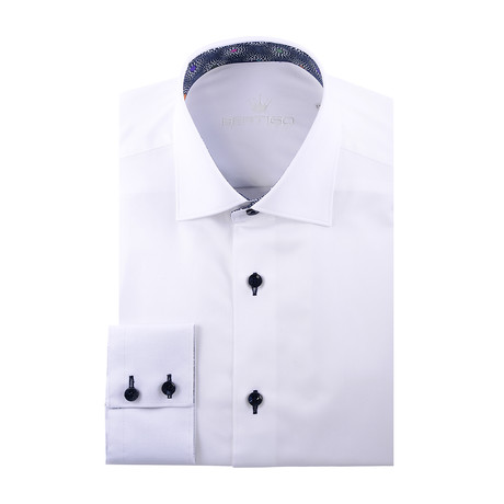 Maddox Solid Long-Sleeve Button-Up // White (XS)