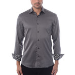 Maddox Solid Long-Sleeve Button-Up // Grey (L)