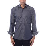 Maddox Solid Long-Sleeve Button-Up // Medium Blue (XL)
