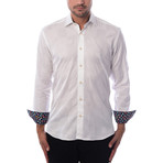 Solid Long-Sleeve Button-Up // White (3XL)