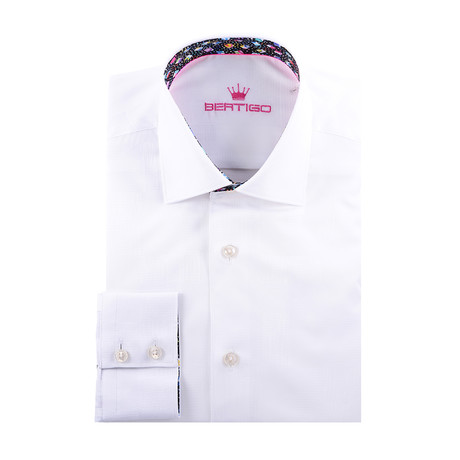 Solid Long-Sleeve Button-Up // White (XS)