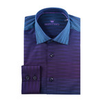 Gradient Long-Sleeve Button-Up // Purple + Blue (XS)