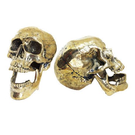 Laughing Skull Table Top Sculpture