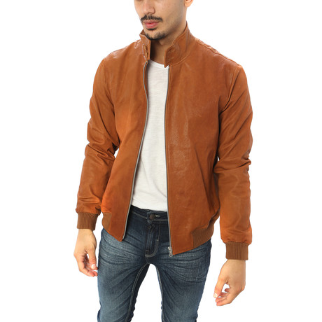 Alessio Genuine Leather Jacket // Brown (S)