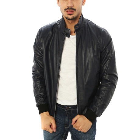 Alessio Genuine Leather Jacket // Black (S)