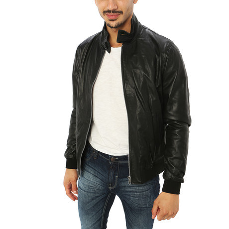 Alessio Genuine Leather Jacket // Midnight Black (S)