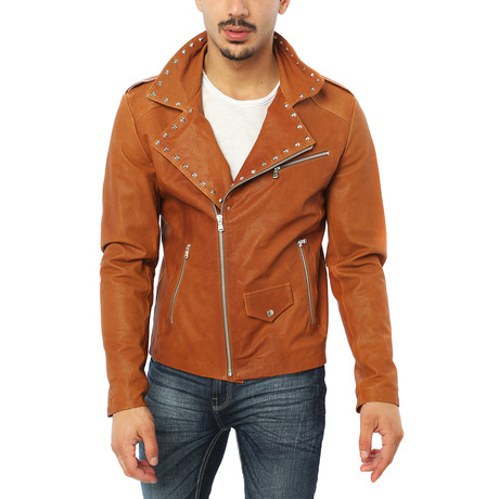 Vincenzo Leather Jacket // Brown (S)