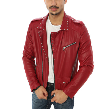 Vincenzo Leather Jacket // Red (S)