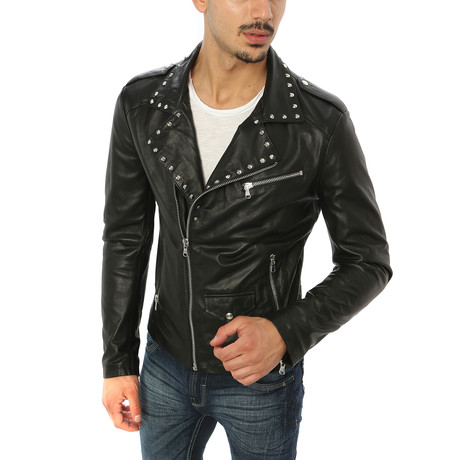Vincenzo Leather Jacket // Midnight Black (S)