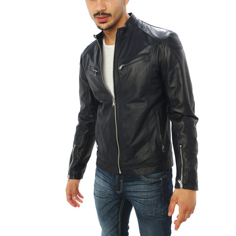 Salvatore Motorcycle Jacket // Black (S)