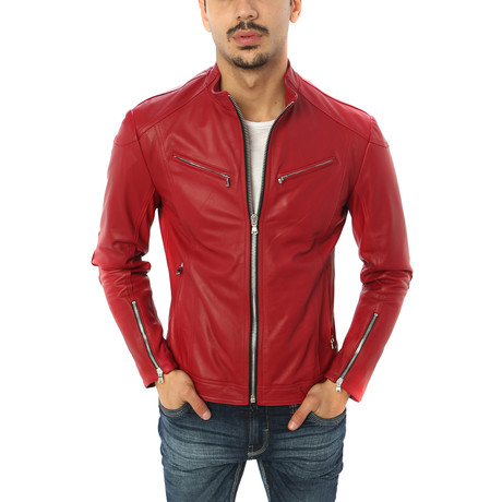 Salvatore Motorcycle Jacket // Red (S)