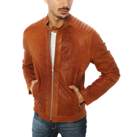 Stefano Motorcycle Jacket // Brown (S)