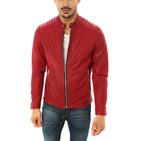 Stefano Motorcycle Jacket // Red (S)