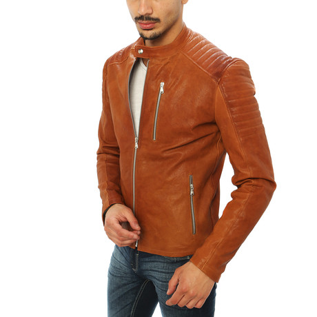 Domenico Motorcycle Jacket // Brown (S)
