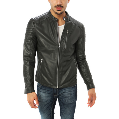 Domenico Motorcycle Jacket // Charcoal (S)