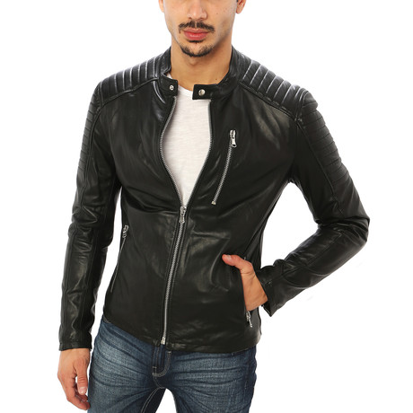 Domenico Motorcycle Jacket // Midnight Black (S)