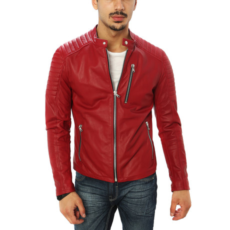 Domenico Motorcycle Jacket // Red (S)