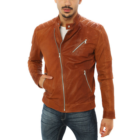 Paolo Motorcycle Jacket // Brown (S)