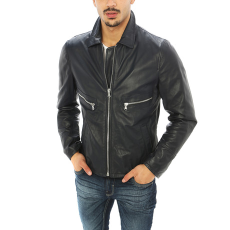 Giorgio Italian Leather Jacket // Black (S)