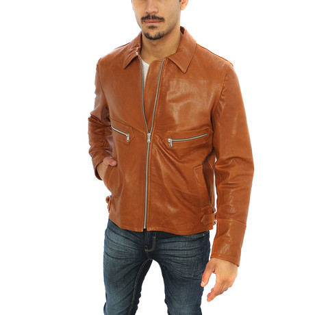 Giorgio Italian Leather Jacket // Brown (S)