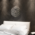 Flower of Life Kabbalah Tree 3D Metal Wall Art