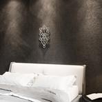 """Kabbalah Tree of Life 3D Metal Wall Art (24""""W x 12""""H x 0.25""""D)"""