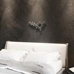 """Oxytocin Molecule 3D Metal Wall Art (24""""W x 12""""H x 0.25""""D)"""