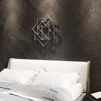 "Spiraling Squares Abstract Metal Wall Art (30""W x 30""H x 0.25""D)"