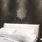 """64 Sided Tetrahedron 3D Metal Wall Art (24""""W x 24""""H x 0.25""""D)"""