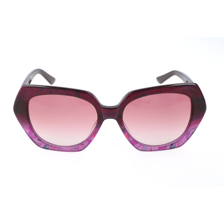 Women's ET608S-538 Sunglasses // Plum Paisley