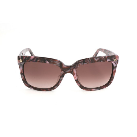 ET611S 628 Woman Sunglasses // Marble Bordeaux