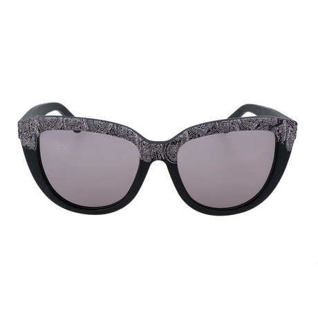 Women's ET619S-5 Sunglasses // Matte Black Paisley
