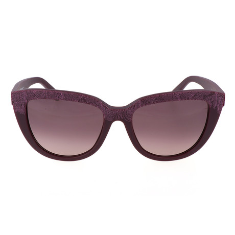 ET619S 524 Woman Sunglasses // Mat Purple Paisley