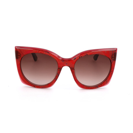 Women's ET630S-604 Sunglasses // Bordeaux Paisley