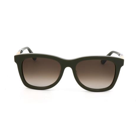 ET632S 317 Unisex Sunglasses // Green + Ochre