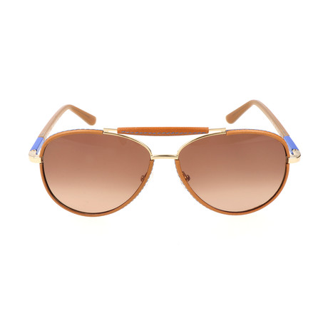 ET103SL 231 Man Sunglasses // Light Brown + Blue