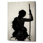 """Female Samurai-Onna Bugeisha (12""""W x 16""""H x 0.75""""D)"""