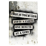 """This Is Your Life // Fight Club (12""""W x 18""""H x 0.75""""D)"""