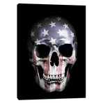 """American Skull Black (12""""W x 16""""H x 0.75""""D)"""