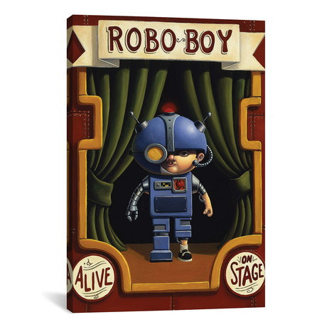 "Robo Boy // Bob Dob (26""W x 18""H x 0.75""D)"