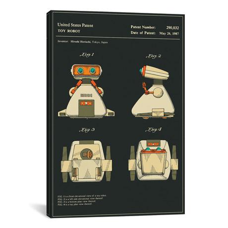 "Hiroshi Horiuchi // Tomy Kogyo, Inc. // Toy Robot II // Jazzberry Blue (26""W x 18""H x 0.75""D)"